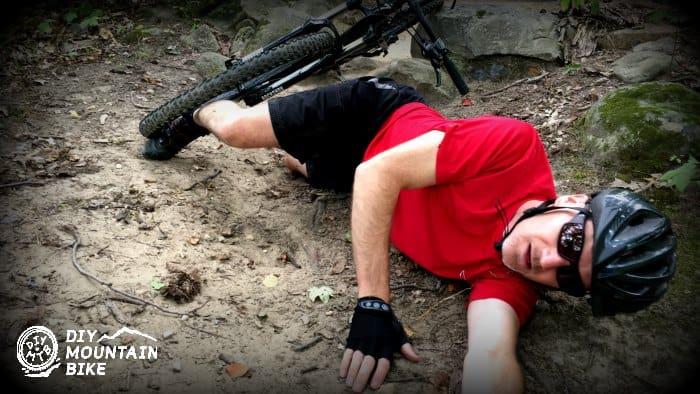 fall off mountain bike