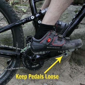 pedals loose mountain biking
