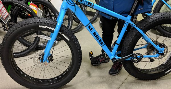 Rigid Frame MTB on Fat Tire Bike