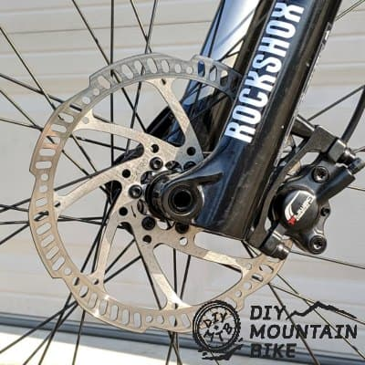 disc brake on mountain bike
