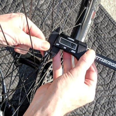 measure mtb disc thickness