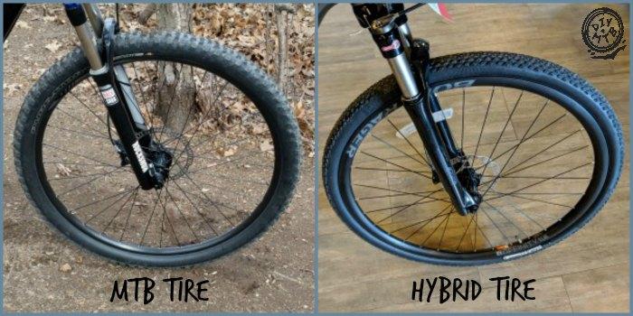 Mountain Bike vs Hybrid Bike Tires