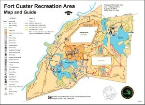 Fort Custer Park and MTB Trail Map