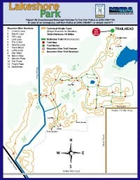 Lakeshore MTB Trail Map