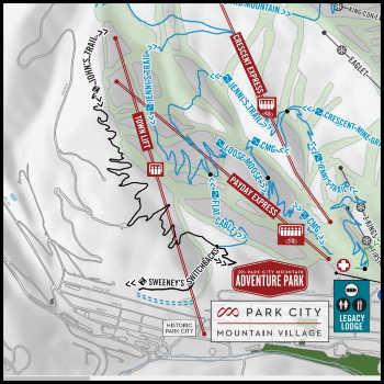 Park City Mountain Bike Trails - Map