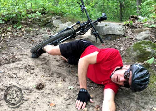 Glasses on While Mountain Biking