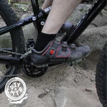 Heels Down Mountain Biking