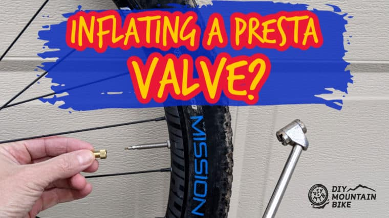 How to Inflate Mountain Bike Tire with Presta Valve
