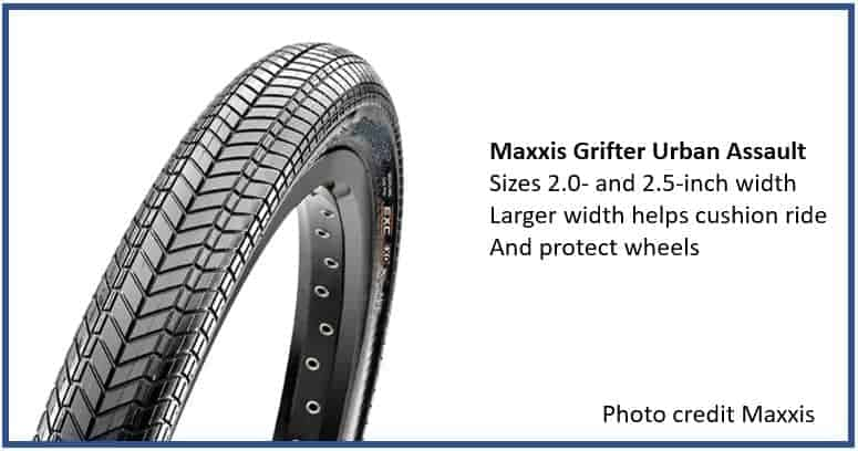 Maxxis Grifter - great MTB tire for Road