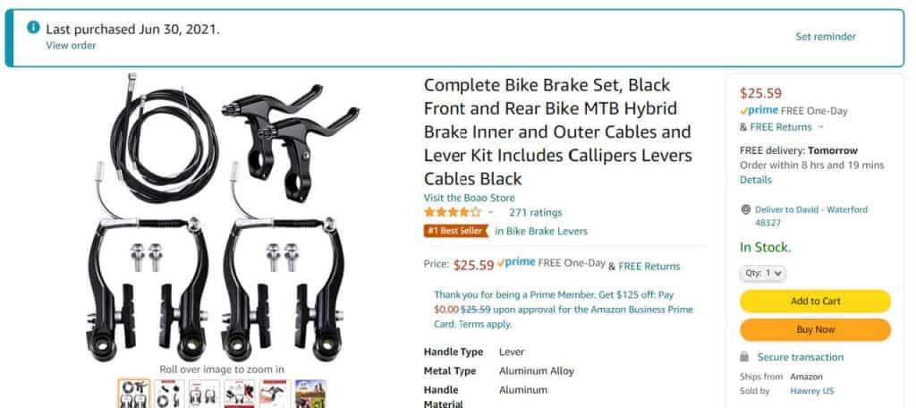 V Brakes from Amazon