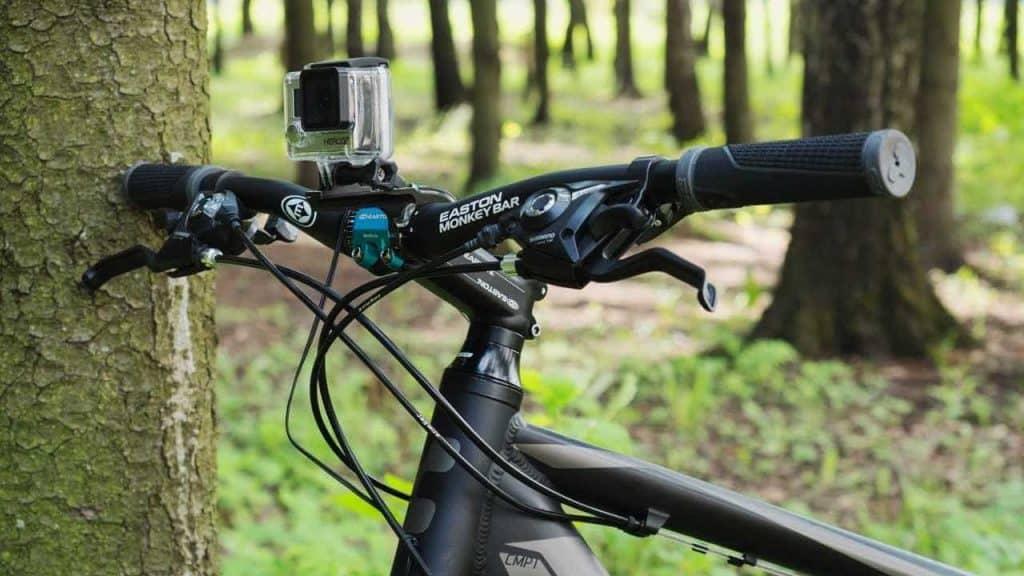 Mountain GoPro on Mountain Bike Handlebars